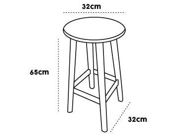 tabouret de bar dimension