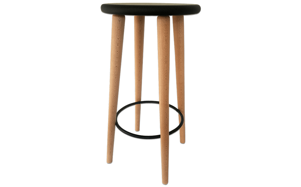 tabouret bar bois design industriel noir h tre massif. Black Bedroom Furniture Sets. Home Design Ideas